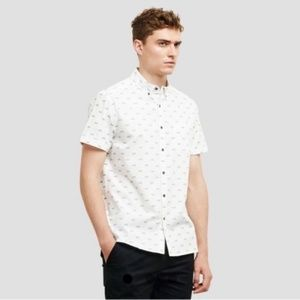 Kenneth Cole Reaction Bicycle print button down